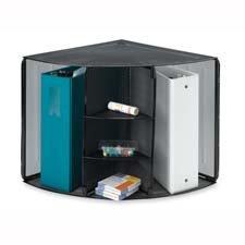 Corner Mesh Organizer, 5 Compartments, 14''x19-1/2''x13-2/8'', BK by Sparco