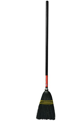 Bristles 4043 Lobby Corn Broom, 30'' Wood Handle, Black (Pack of 12) by Bristles