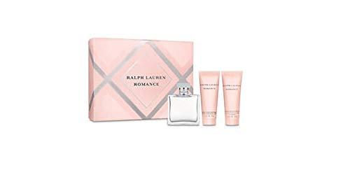 Ralph Lauren Romance 3pc Diamond Set: 3.4 oz Eau de Parfum Spray + 2.5 oz Sensuous Body Moisturizer + 2.5 oz Sensuous Bath & Shower Gel