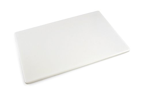 Commercial Plastic Cutting Board, NSF, 18 x 12 x 0.5 Inches, White