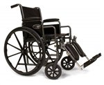 E&J 3E010240 Traveler SE Wheelchair - 16x16 Detachable Full Arm, Swingaway Footrest E&j Traveler Se Wheelchair
