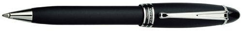 Aurora Ipsilon Satin Black Ballpoint Pen - - Aurora Ballpoint Pen