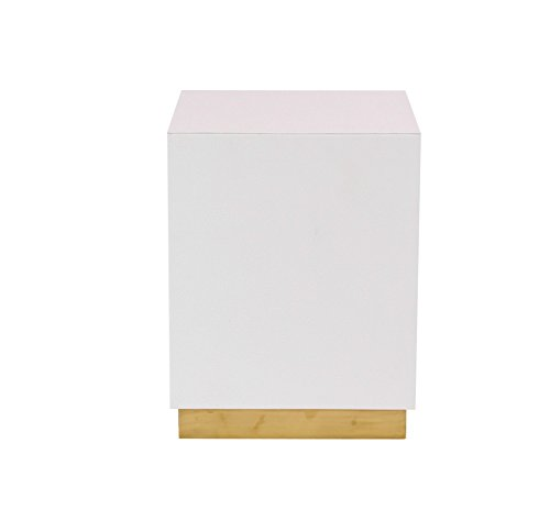 Deco 79 62776 Accent Table White, Gold by Deco 79 (Image #1)