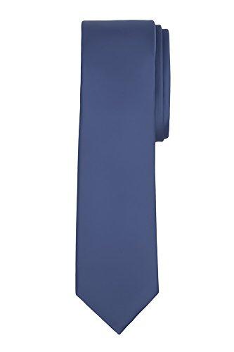 steel blue ties for men - 2