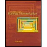 Contemporary Business Communication, Ober, Scot, 0618018662