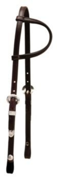 (Tory Touch of Silver One Ear Headstall Dark Oil)