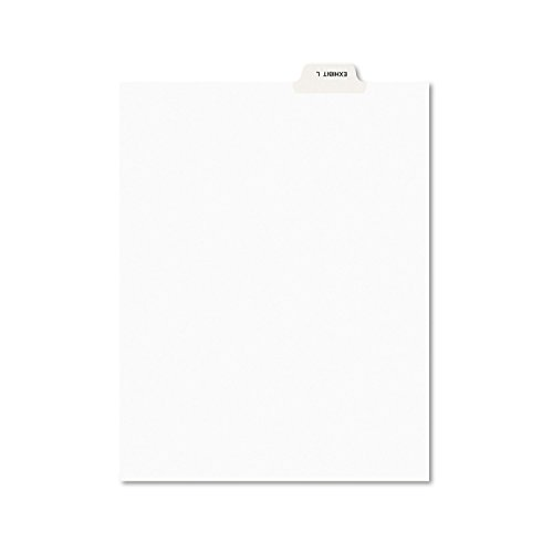 Avery 12385 Avery-Style Preprinted Legal Bottom Tab Dividers, Exhibit L, Letter (Pack of - Legal Exhibit Dividers Tab Bottom