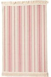 Ikea Flatwoven Area Rug Stripes Cotton Pink Natural Throw Mat