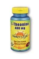 Nature Vie L-théanine, 400 mg, 30 comprimés végétariens