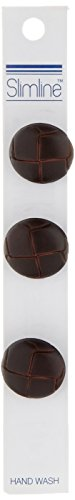 Blumenthal Lansing Slimline Buttons Series 2, Brown Imitation Leather Shank 3/4