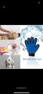 HOPEKIN Pet, Dogs, Cats Brushing & Grooming Gloves   Dog, Cat Hair Removing Tool, Pet Hair Brush & Deshedding Gloves…
