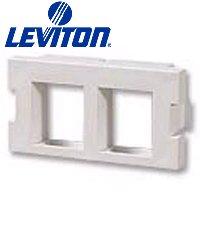 Leviton 41291-2QT 2-Port QuickPort Adapter MOS Insert - Light Almond (Pkg of 25) ()