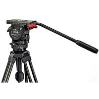Sachtler FSB-6 Aluminum Tripod System with FSB-6 Fluid Head, 2-Stage Tripod, Mid-Level Spreader and Padded Case, Supports 13.2 lbs by Sachtler