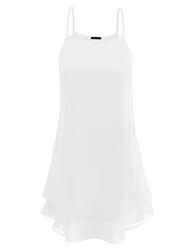 (Anmery Casual Plus Size Sexy Long Tank Tops Clothes Short Sleeve Tunics for Women White XL)