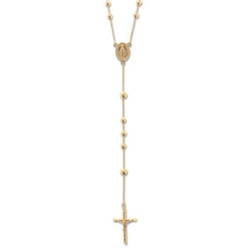 Or 9 ct perles Rosaire Collier