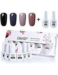 Elite99 Gel polish Soak-off Gel Nail Polish UV LED Nail Art Gift Box Set of 6 8ml C031