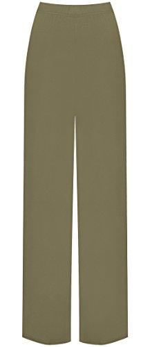 WearAll Plus Size Women's Palazzo Trousers - Mocha - US 16-18 (UK 20-22)