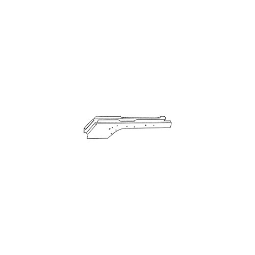 Mustang Frame Rails - MACs Auto Parts 44-15605 - Mustang Left Front Full Length Frame Rail
