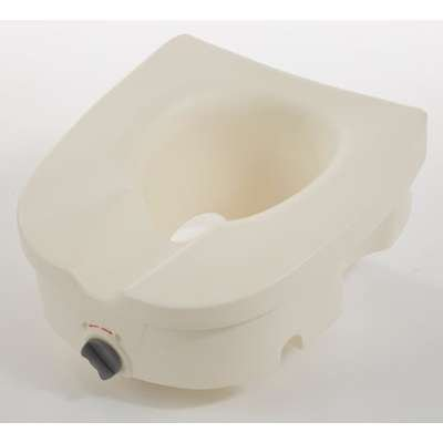 Cardinal Health CBAS0027 Elevated Toilet Seat with Clamp, Supports 300 lb