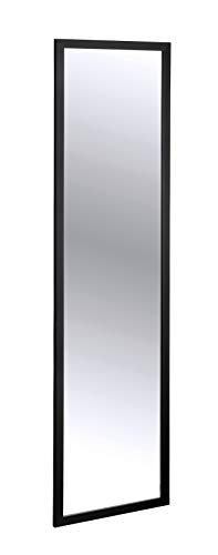 WENKO Espejo para la puerta Arcadia negro - Espejo mural, espejo para colgar, Poliestireno, 30 x 120 cm, Negro