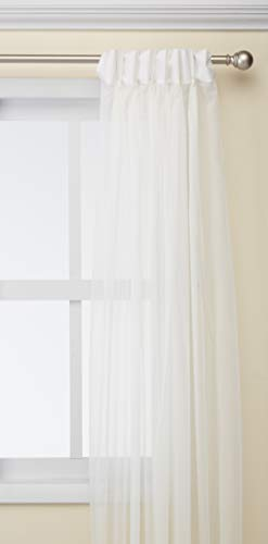 (Curtainworks Soho Voile Sheer Pinch Pleat Curtain Panel, 29 by 95