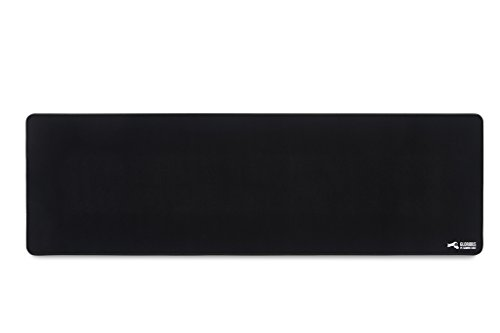 Glorious Extended Gaming Mouse Pad/Mat - Long Black Cloth Mousepad, Stitched Edges | 36x11