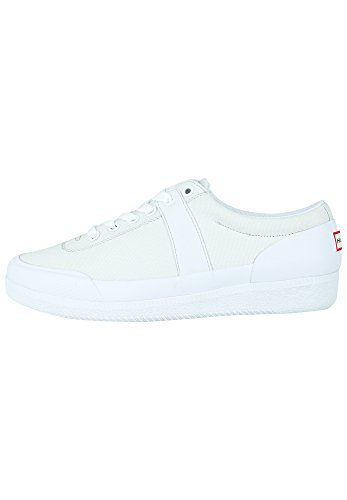 Hunter Womens Originale Sneaker Lo - Toile Blanche