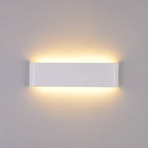 LightInTheBox 6W Wall Sconces LED Modern Contemporary Metal 24cm Flush Mount Wall Light Home Color White, Light Source Warm White, Voltage 90-240V