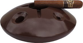 Cheap  Large 8 Inch Commercial Quality Melamine Windproof Ashtray - Chocolate