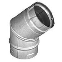 Pellet Vent Pro Vent Pipe (Dura-Vent 3PVP-E45 3 PelletVent Pro Galvalume 45° Elbow)
