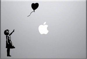 Banksy's Girl w/Heart Balloon Vinyl Decal Skin for Apple Macbook Pro Air Laptop Computer