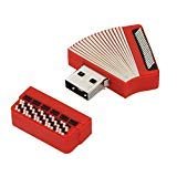 USB Flash Drive, Cartoon Accordion Shape Cool Model 256MB USB 2.0 Memory Stick Storage Thumb Pen Digital Drive, Mini Flash Disk, Cute U Disk for Android Computers Windows 7 8 10 Laptop (256MB)