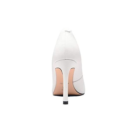 Negro Nappa White Heel Stiletto ZHZNVX Blanco Heels Winter Mujer Zapatos de Leather Comfort 44TPaRqx
