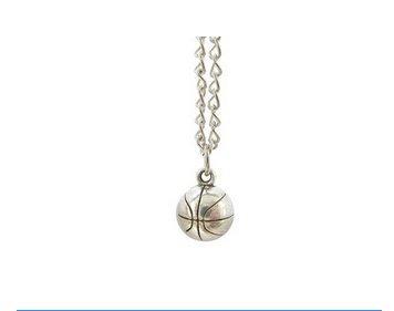 Basketball Necklace,Charm Pendant, Basketball Jewelry, Basketball Player, Basketball Team, Womens Basketball, Sports