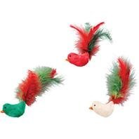 Holiday Flicker Fun Feather Birds With Catnip