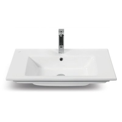 CeraStyle CeraStyle 001300-U-One Hole Mini Curved Corner Ceramic Wall Mounted/Vessel Sink, White 50%OFF