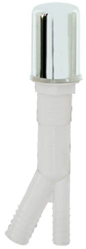 (Eastman 60421 Economy Plastic Air Gaps for Dishwasher and Disposal Installation, White Plastic Body with Chrome Cap)