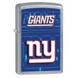 New York Giants Zippo Lighter - Zippo NFL NY Giants Street Chrome Pocket Lighter