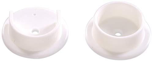 Hillman Hardware Essentials 851541 White Plastic Pole Socket Set-1-3/8
