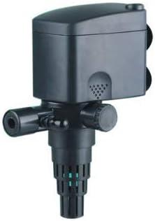 Nicepets ® – Mini Bomba silenciosa de recirculación de Agua Sumergible con Filtro Skimmer y Boquilla de ventilación para acuarios, peceras, estanques y Fuentes. Potencia 600 litros/Hora y 8W