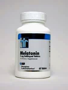Douglas Laboratories - Melatonin 3mg sublinguale - 60 comprimés