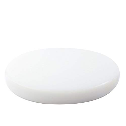 Thick Round Cutting Board Kitchen PE Vegetable Pier Knife Plate Plastic Enamel Plate Yellow 36x2cm White 40x2cm (Size : 402cm)
