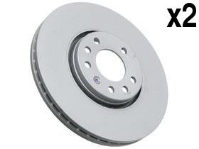 302 Mm Front Disc - Saab 9-3 Brake Disc Front 302mm ATE coated (x2 rotors) friction rotor disc