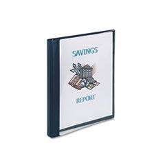 """Avery 3 Ring View Binder, Clear Front, 1/2"""" Cap., 11""""x8-1/2"""", Blue"""