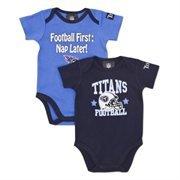 NFL Tennessee Titans Boy's Short Sleeve Bodysuit, 18 Months, Navy