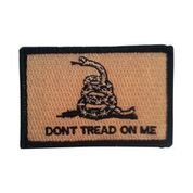 Backwoods Barnaby USA American Gadsden Flag Morale Tactical Patch/Don't Tread On Me Snake Patch with Hook & Loop (DTOM Desert Coyote, 2