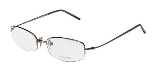 Vera Wang V26 For Ladies/Young Women/Girls Designer Half-rim Titanium Allergy Free Upscale Eyeglasses/Eye Glasses (47-16-133, Lilac)