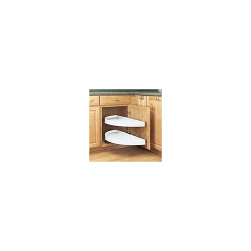 "16-1/8"" Half Moon Pivot & Slide Shelves White or Almond, 33"" Dimensions, 16-1/8"" Pivot and Bottom Slide Half Moon Pull-Out, Almond, durable service"