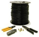 C2G/Cables to Go 29833 RG6 Dual Shield Coaxial Cable Installation Kit (500 Feet)