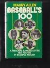 Baseball's 100, Maury Allen, 0891042008